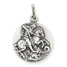 Men's Ladies .925 Sterling Silver Antiqued Saint Michael Pendant For Necklace