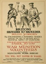 ENGINEERING & KINDRED TRADES. SKILLED WORKMEN British WW1 Propaganda Poster
