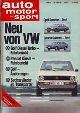 auto motor sport 15/78 VW Golf 1/ Opel Senator C 3.0 E/ Lancia Gamma/19.7.1978