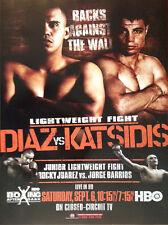 Vintage Original Juan Diaz vs. Michael Katsidis Boxing Fight Poster