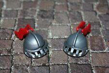 """Playmobil Feder   /""""  Bommel hellrot    /""""  2 Stück Ritter Soldaten Citylife"""