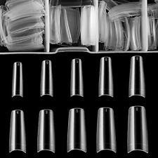 French False Nail Tips iBealous 500pcs Acrylic Coffin Fake Nails Half Cover w.