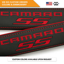 Seat Belt Covers Shoulder Strap Pads Custom Fits Chevrolet Camaro SS Red 2PCS