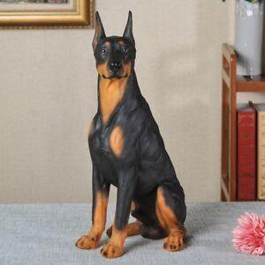 1Pcs Doberman Pinscher Statue Dog Model Resin Sculpture Home Decoration 1333 Hot