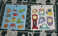 Vintage 1990s 2 Small Sticker Sheets Mice Mouse Clocks Christian Inspirational