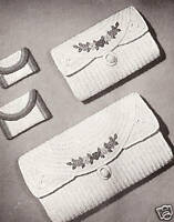 Vintage Crochet  PATTERN to make Diamond Design Clutch Bag Notebook Cover Folder
