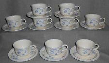 Set (9) Villeroy & Boch RIVIERA PATTERN Cup and Saucers LUXEMBOURG