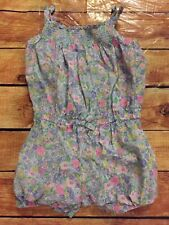 Carters Baby Girl 12 Month Pink Yellow Blue Floral Smocked Romper VGUC