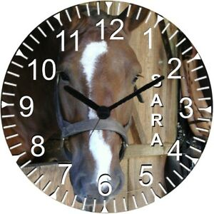 "9"" Personalized Horse Wall Clock"