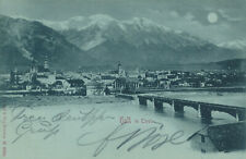 Tirol Hall Mondscheinkarte Brücke Ort Panorama Totale Marke Stempel Kirche