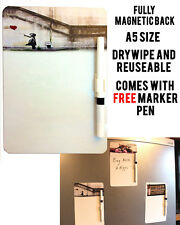 BANKSY HOPE A5 MAGNETIC MEMO BOARD MESSAGE NOTE KITCHEN FRIDGE WITH DRYWIPE PEN