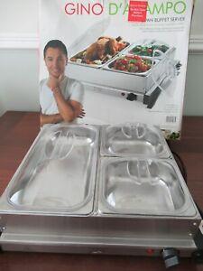 Buffet Server, Food Warmer, 3 dish, electric; Gino D'Acampo