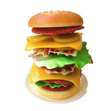 Novelty Kitchen Food Toys Plastic Hamburger Stacking Game Intellectual Toy