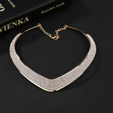 Fashion Jewellery Chain Pendant Crystal Choker Chunky Statement Bib Necklace M&C
