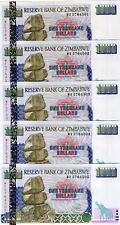 LOT Zimbabwe, 5 x 1000 dollars, 2003, P-12b, UNC > Elephants