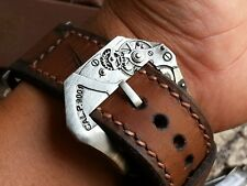 100% Handcraft Movement  Buckle for all Panerai Straps 26 mm (Vintage aging )
