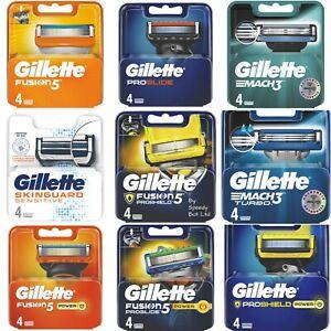 GILLETTE FUSION5 PROGLIDE PROSHIELD MACH3 POWER SENSITIVE 4 or 8 REFILL BLADES