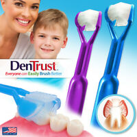 2-PK | DenTrust | The Only Child-Safe 3-Sided Toothbrush | Clinically Proven USA