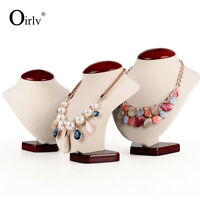 Oirlv Necklace Pendant Display Bust Stand Mannequins for Shop Showcase Velvet