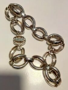 """CHICOS CHUNKY SILVER TONE CHAIN NECKLACE 9"""""""