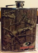 Mossy Oak Camo Flask Officially Licensed 6 Oz. Stainless Steel New