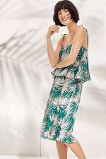 New Anthropologie Fanned Palm Dress by HD in Paris/Green, XXSP, XSP, SP, S