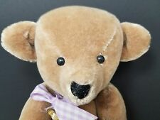"""vintage Orignal by Elva 16"""" Jointed 1988 Tan Collectible Teddy Bear AA2"""