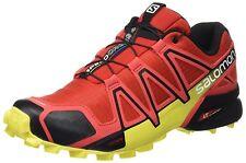 Salomon Mens Speedcross 4 Trail Sneaker,Radiant Red/Black/Corona Yellow, 11 DM