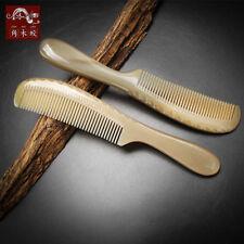 Natural Handmade Hair Comb Genuine OX Horn Comb Antistatic Hair Brush