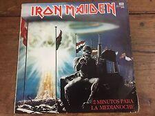 Rare Iron Maiden 2 Minutos Para La Medianoche Argentina Ep Lp Spanish Titles!!