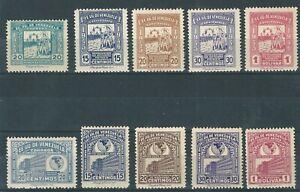 Venezuela: 1946; Scott 394 - C218 - C221, Scott 395, C228 - C231, hinged. VZ0538