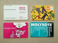 #503 TK Telefonkarten Phonecard Deutschland O Karte 4 Stück Bosch GfK Molykote