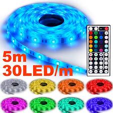 NINETEC Flash30 5m LED Strip e Band Kette RGB 44 Key Fernbedienung wasserdicht