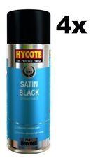 4x Hycote Satin Black Car, Van, Bike Spray Paint / Aerosol 400ml