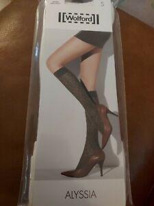 Wolford Alyssia KneeHigh Socks, Small, Ecrue