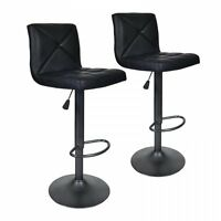NEW 2 PU Leather Modern Adjustable Swivel Barstools Hydraulic Chair Bar Stools22