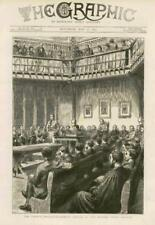 1873 - Antique Print OXFORD Church Disestablishment Debate Union Society (012)