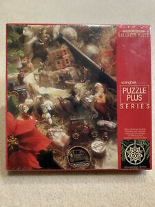 500 Piece Hallmark 1989 Keepsake Ornament Collection Puzzle Springbok Christmas