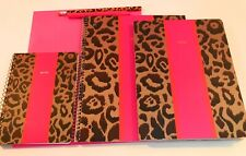 Leopard Print & Pink Notebooks School Bundle