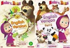 2 DVD NTSC  MASHA AND THE BEAR EPISODES 1-36  PART 1 and PART 2//. USA SELLER