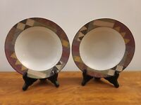 "Lot of 2 Studio Nova Palm Desert 8 1/4"" Rim Soup/Cereal Bowls by Nancy Green"