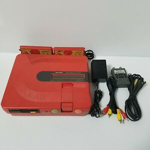 Sharp Twin Famicom console system Red AN-500R *NEW BELT* Tested and working