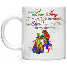 Every Love Story Beauty And The Beast Inspired Couples Wife Girlfriend Mug Gift