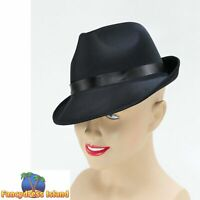 1980S BLACK MADNESS FEDORA JACKSON HAT - mens fancy dress costume accessory