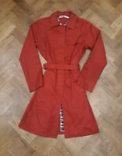 Tommy Hilfiger Red Womens Jacket Trench Coat Size S