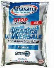 5 ricariche universali  sali assorbiumidità   ARIASANA  inodore  deumidificatore