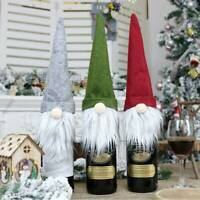 Christmas Champagne Wine Bottle Cover Santa Claus Wine Cover Xmas Table Decor