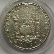 1761 MM 8 Reales:   ANACS AU50:   Mexico City Mint