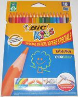 Lot Set x18 Crayons de Couleur BIC Evolution NEUF