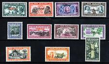 NEW ZEALAND KG V 1940 OFFICIALS The Centennial Set Optd OFFICAL SG O141-151 MINT